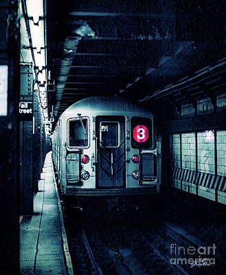 Digital Art - New York City Subway 3 Train by CAC Graphics