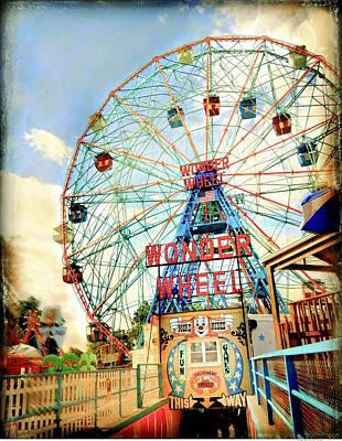 Mixed Media - New York- Coney Island by Javier Lopez Rotella
