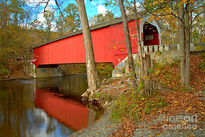 Photograph - New York Eagleville Covered Bridge by Adam Jewell