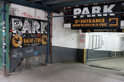 Photograph - New York Graffiti On Sidewalk by Doug Ash