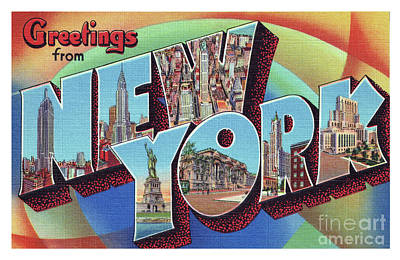 Photograph - New York Greetings - Version 2 by Mark Miller