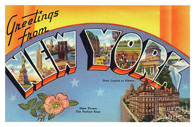 Photograph - New York Greetings - Version 4 by Mark Miller