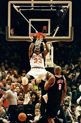 Photograph - New York Knicks Patrick Ewing Does A by New York Daily News Archive