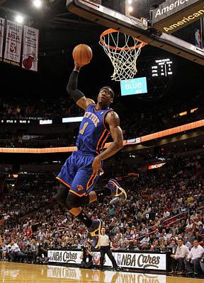 Photograph - New York Knicks V Miami Heat by Mike Ehrmann