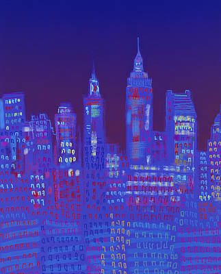 Painting - New York, New York By Diana Ong by Diana Ong