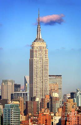 Photograph - New York New York Skyline 2006 by John Rizzuto
