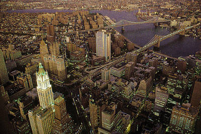 Photograph - New York Night View 81 - Photo Illustration by Peter Potter