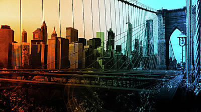 Digital Art - New York Panorama - 36 by Andrea Mazzocchetti