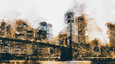 Painting - New York Panorama - 37 by Andrea Mazzocchetti