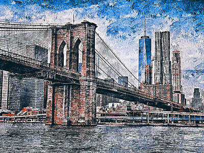 Painting - New York Panorama - 40 by Andrea Mazzocchetti
