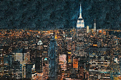 Painting - New York Panorama - 41 by Andrea Mazzocchetti