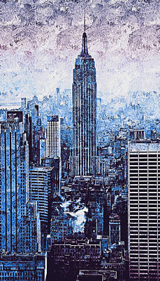 Painting - New York Panorama - 44 by Andrea Mazzocchetti
