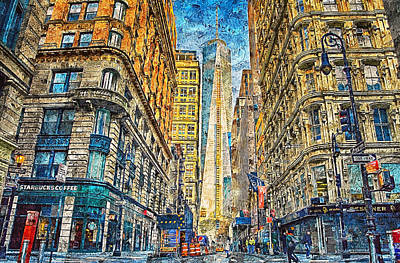 Painting - New York Panorama - 46 by Andrea Mazzocchetti