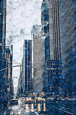 Painting - New York Panorama - 47 by Andrea Mazzocchetti