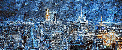 Painting - New York Panorama - 48  by Andrea Mazzocchetti