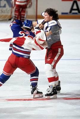 Photograph - New York Rangers V Detroit Red Wings by B Bennett