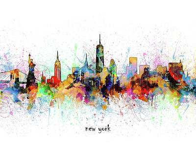 Abstract Skyline Royalty-Free and Rights-Managed Images - New York Skyline Artistic by Bekim M