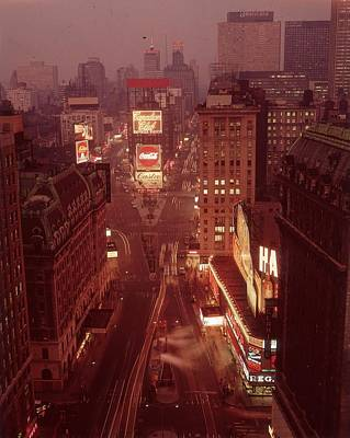 Photograph - New York Sunset by Hulton Archive