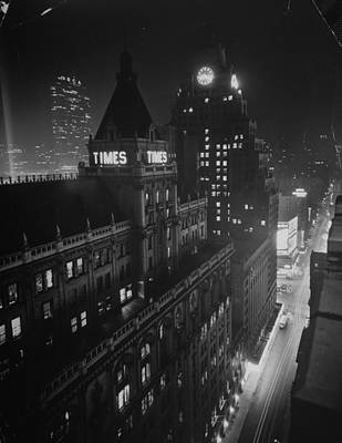 Photograph - New York Times Building On West 43rd by Ralph Morse