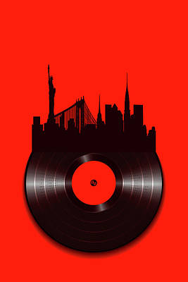 Painting - New York Vinyl by Tony Rubino