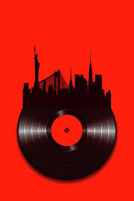 Painting - New York Vinyl by Tony Rubino