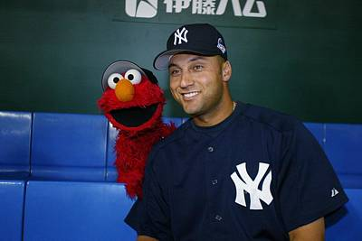 Photograph - New York Yankees Derek Jeter Relaxes In by New York Daily News Archive