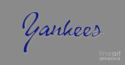 Mixed Media - New York Yankees by Ed Taylor