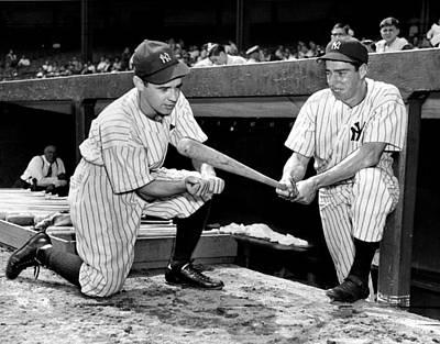 Photograph - New York Yankees Slugger Joe Dimaggio by New York Daily News Archive