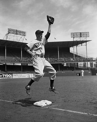 Photograph - New York Yankees Vs Brooklyn Dodgers At by New York Daily News Archive