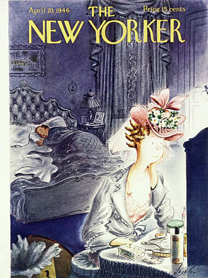 Drawing - New Yorker April 20th 1946 by Constantin Alajalov
