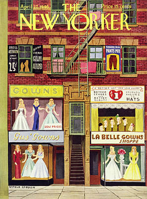 Painting - New Yorker April 27th 1946 by Witold Gordon