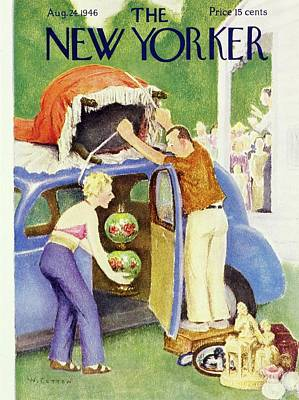 Painting - New Yorker August 24th 1946 by William Cotton