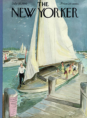 Boat Painting - New Yorker Cover - July 22, 1950 by Garrett Price