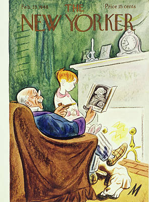 Painting - New Yorker February 23rd 1946 by Julian De Miskey