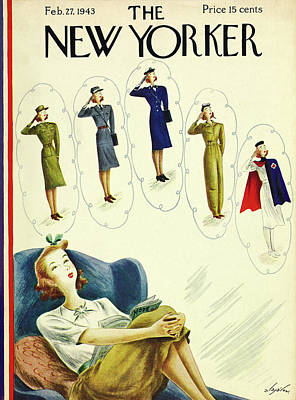 Painting - New Yorker February 27th 1943 by Constantin Alajalov