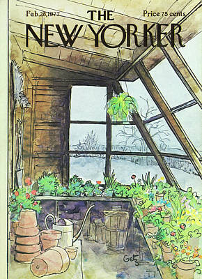 Winter Painting - New Yorker February 28th 1977 by Arthur Getz