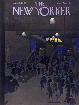 Painting - New Yorker January 18th 1947 by Arthur K Kronengold