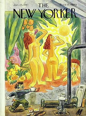 Painting - New Yorker January 25th 1947 by Julian De Miskey