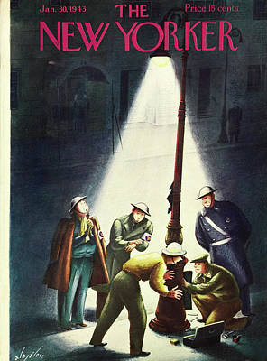 Painting - New Yorker January 30th 1943 by Constantin Alajalov