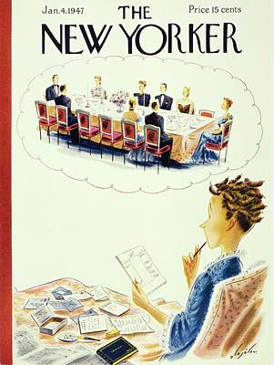Painting - New Yorker January 4th 1947 by Constantin Alajalov