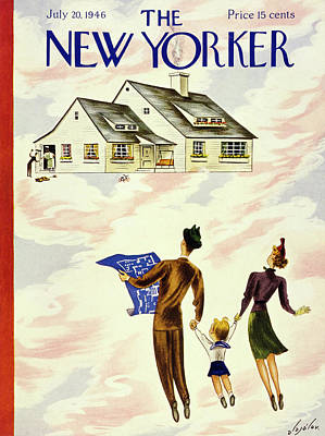 Painting - New Yorker July 20th 1946 by Constantin Alajalov