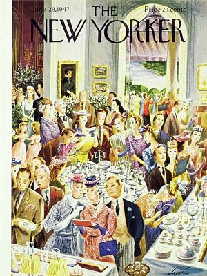 Painting - New Yorker June 28th 1947 by Constantin Alajalov