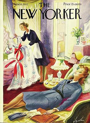 Painting - New Yorker June 6th 1942 by Constantin Alajalov