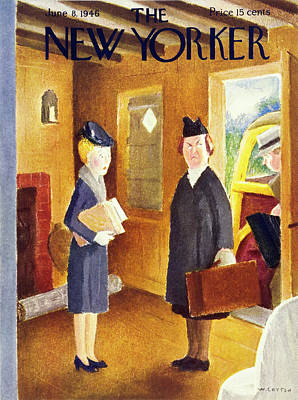 Painting - New Yorker June 8th 1946 by William Cotton