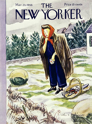Painting - New Yorker March 23rd 1946 by Helene E Hokinson