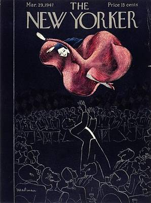 Painting - New Yorker March 29th, 1947 by Christina Malman