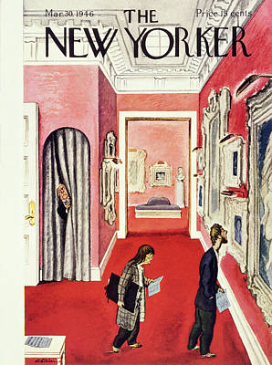 Painting - New Yorker March 30th 1946 by Daniel Brustlein
