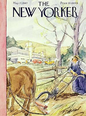 Painting - New Yorker May 17th 1947 by Perry Barlow