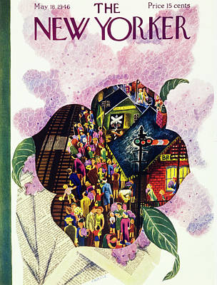Painting - New Yorker May 18th 1946 by Ilonka Karasz