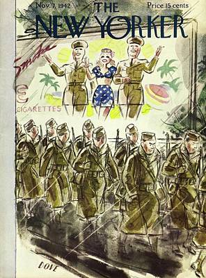 Painting - New Yorker November 7th 1942 by Leonard Dove